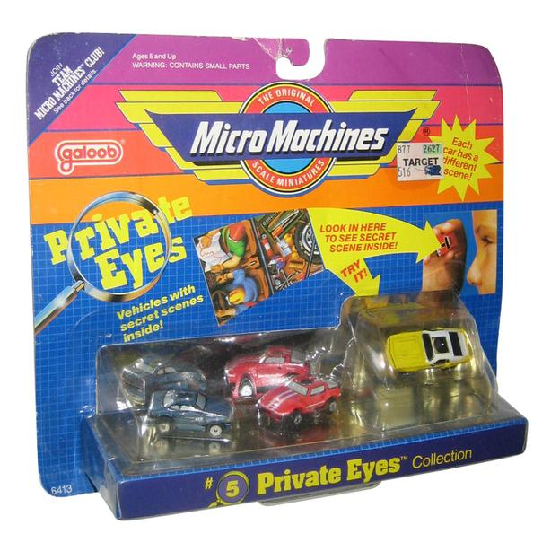 Shelby GT-500) Micro Machines Private Eyes #5 Collection Toy Set