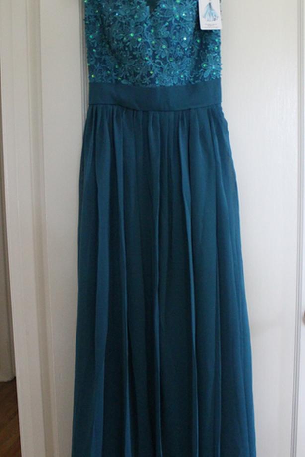 Chiffon Applique Evening Dress