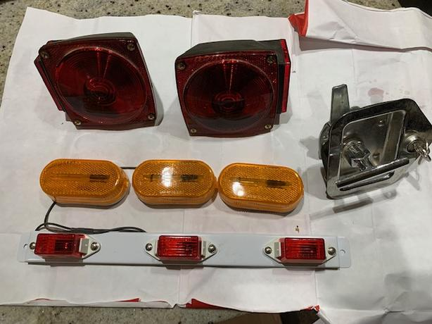 Misc Trailer lights and door Parts - all new