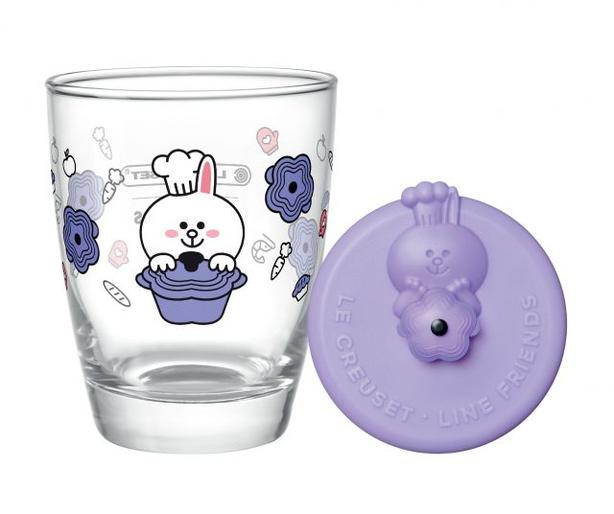 7-11 LE CREUSET Line Friends Cony Drinking Glass with Purple Lid