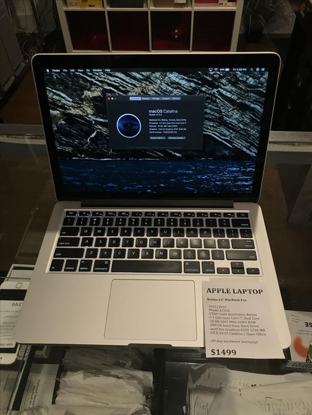 """2015/2016 Retina 13"""" MacBook Pro 3.1GHz i7 16GB RAM 500GB SSD w/ Warranty!"""