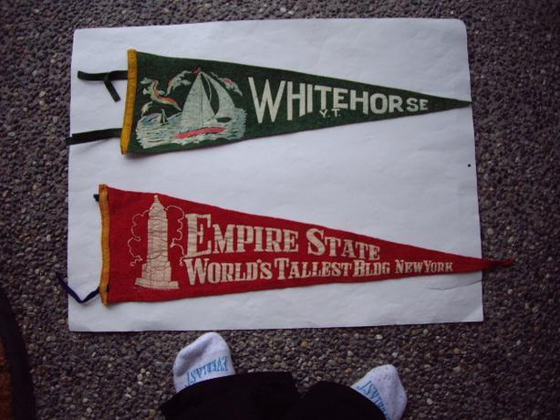 PENNANTS- WHITEHORSE YUKON TERR/ EMPIRE STATE NEW YORK $5 EA