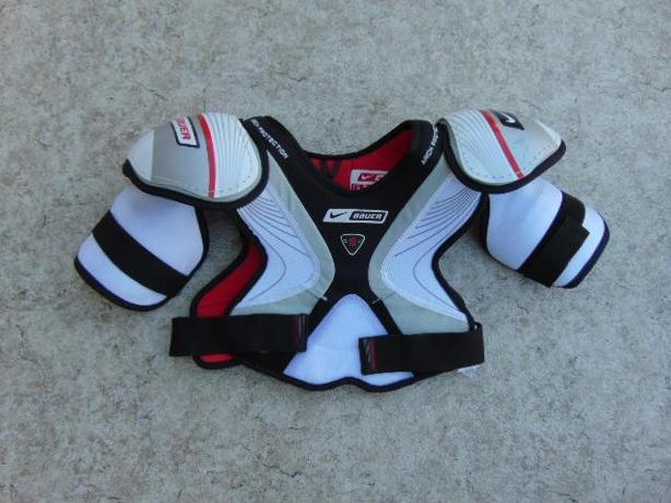Hockey Shoulder Chest Pad Men's Size Medium Bauer Nike Black Red