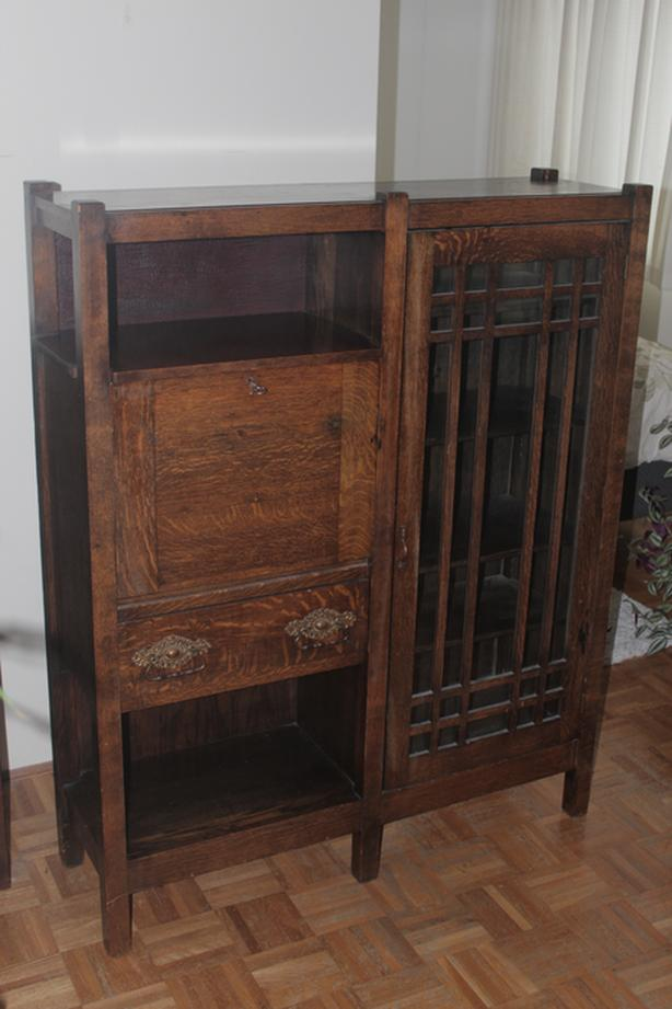 Vintage Cabinet with Maker's Signature and Stamp on the Back