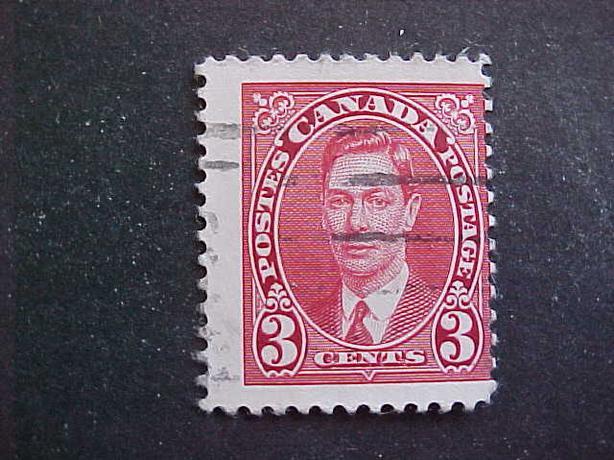 SCOTT 233 MISPERFORATED KING GEORGE VI