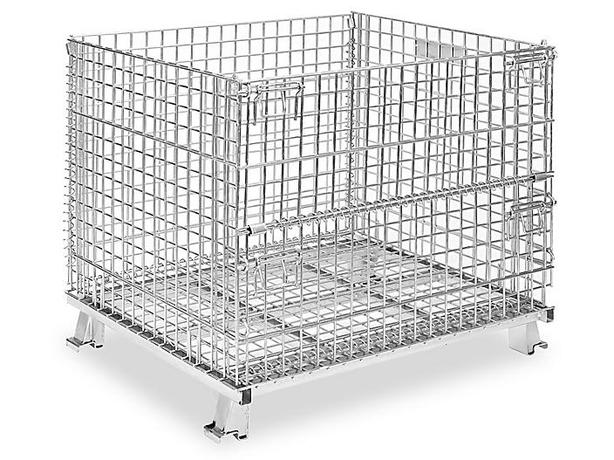 """Stackable Collapsible Wire Container - 40 x 32 x 34 1⁄2"""" (2 left)"""