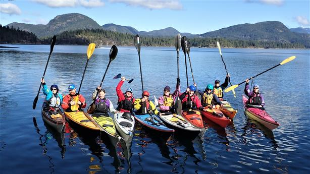 A lodge based Paddle Canada Level 2 Skills course, Quadra Island