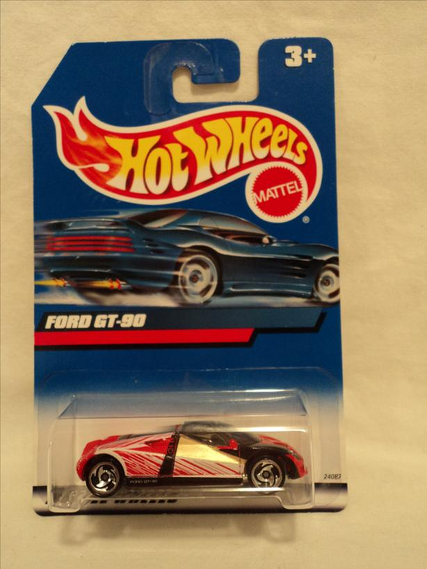 1/64 HOT WHEELS FORD GT-90 #1073 (1999)