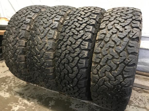 Installed & balanced 4 235 75 15 BFGoodRich A/T (snow flake tires)