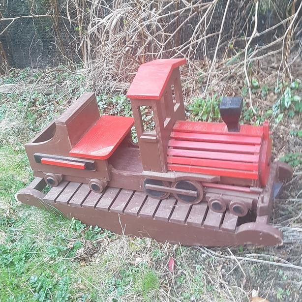 handmade wooden train