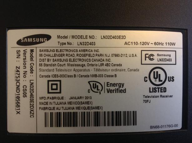 "Samsung colour tv , 31"""