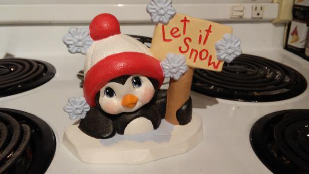 Ceramic Penguin Sign