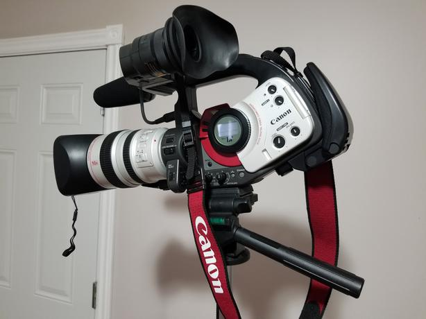 Movie Camera with 2 Lenses and Accessories