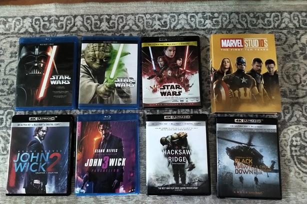 4K Ultra HD Blue Ray Collection
