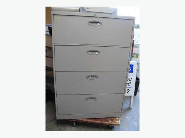 File Cabinets 2, 3, 4, 5 and 6 drawer lateral file cabinets.