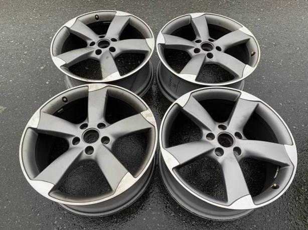 """Set of 21x9"""" OEM Genuine Audi Q7 4L0601025CE ET60 5x130 rims good cond"""