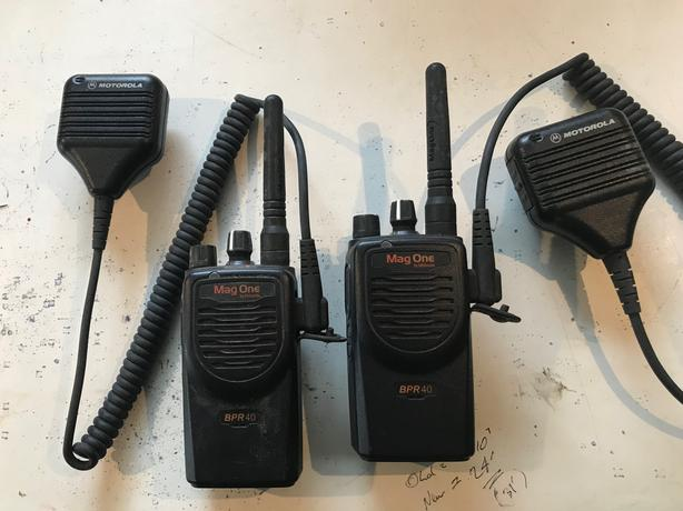 "Pair of Motorola ""Mag One"" BPR40 radios"