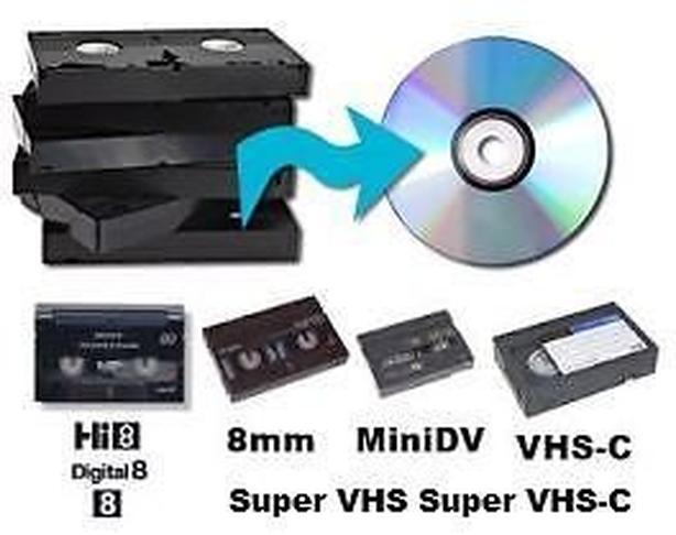 Convert VHS Movies, 8mm, Hi 8 to DVD