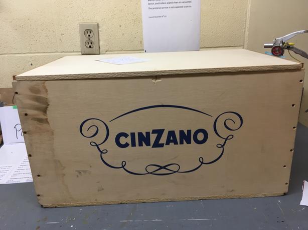 CinZano wooden box