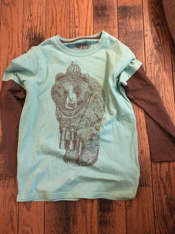turquoise bear shirt from Marks and Spencer size 9-10 years