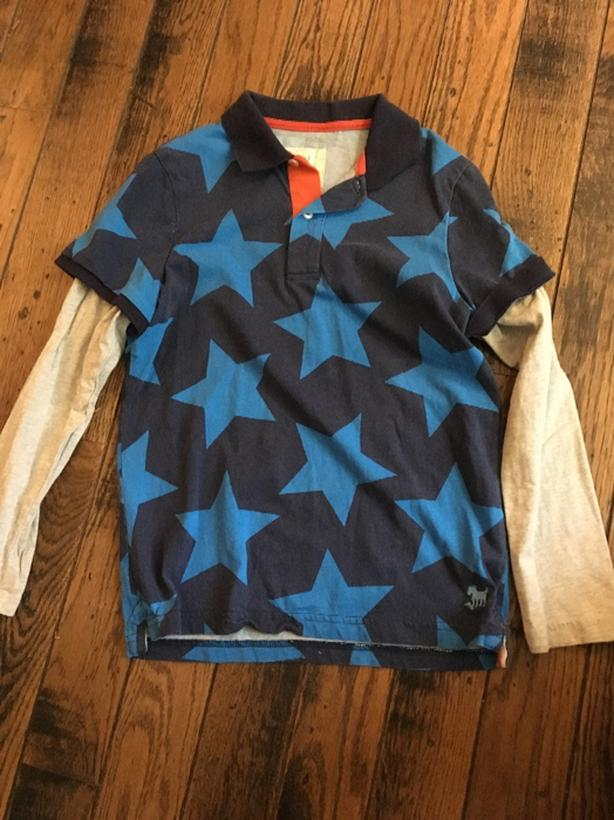 blue shirt from Mini Boden size 9-10 years