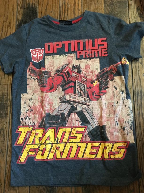 transformers optimus prime Tshirt age 10 years