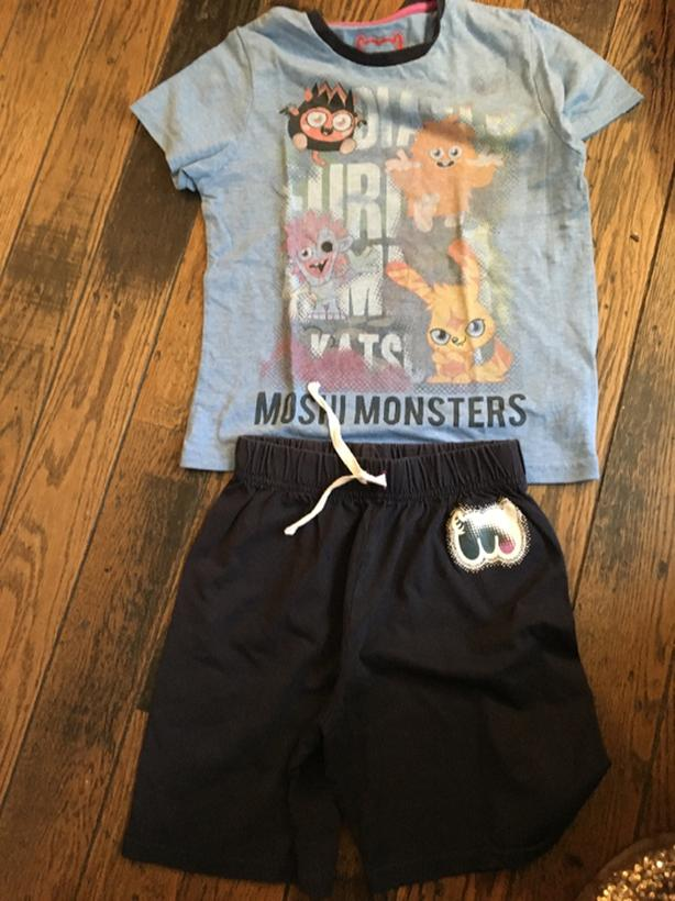 moshi monsters short pyjamas size 6-7 years from M&S