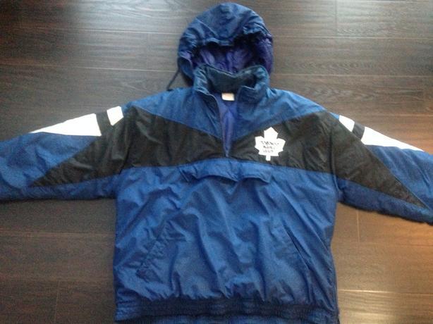 New winter jacket Toronto Maple Leaf with hood.