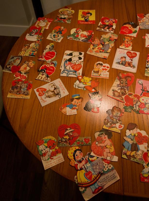 Lot of 75 Vintage Valentines Day Cards from the 1940's - 1960's