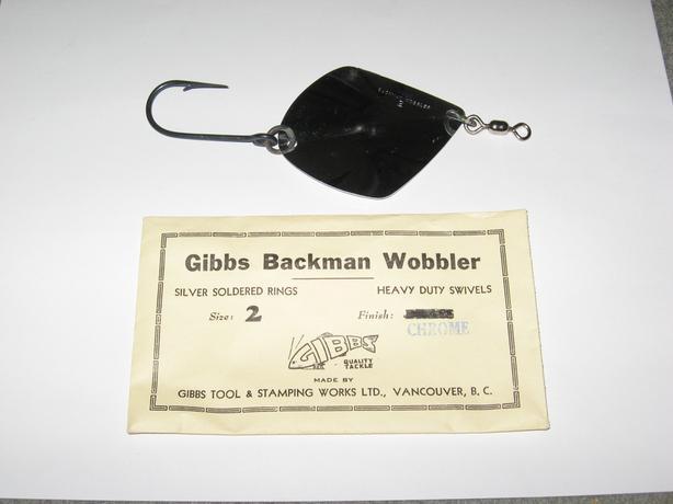 Vintage Gibbs Fishing Lure Backman Wobbler #2 Chrome
