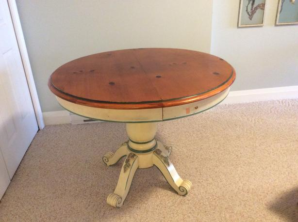 French Country dining table and chairs