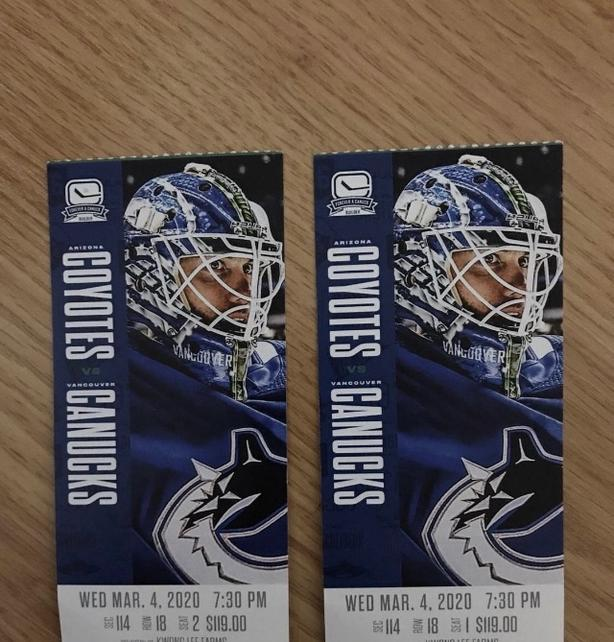 canucks ticket