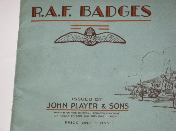 RAF Badges ,Complete set of 50 tobacco cards  circa 1935