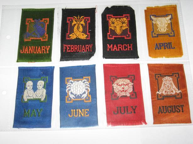 Canadian silks signs of the Zodiac  circa 1912  $3 each