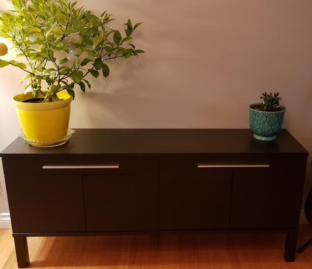 IKEA - Black/brown Bjursta buffet/sideboard