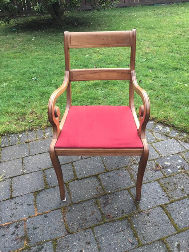 3 solid wood chairs - $25 for all 3