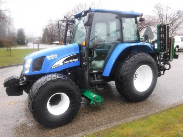 2007 New Holland TC100 Tractor 4 wheel Drive Grass Cutter Diesel