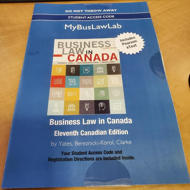 Business Law in Canada 11th Edition eText