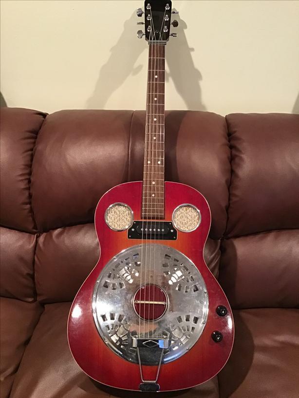 Resonator guitar electric acoustic