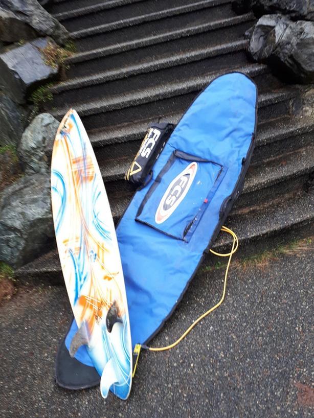 7 foot Byrne surfboard