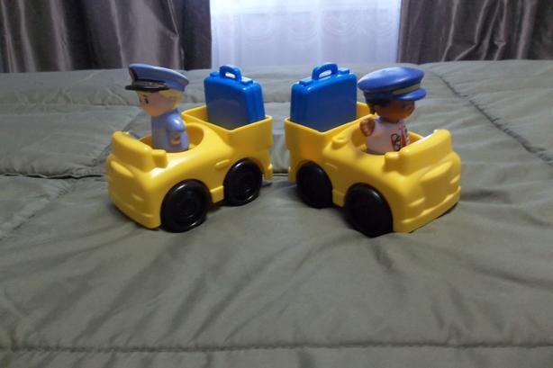 2 little people airport cars for luggage delivery Or 2 for $8.00