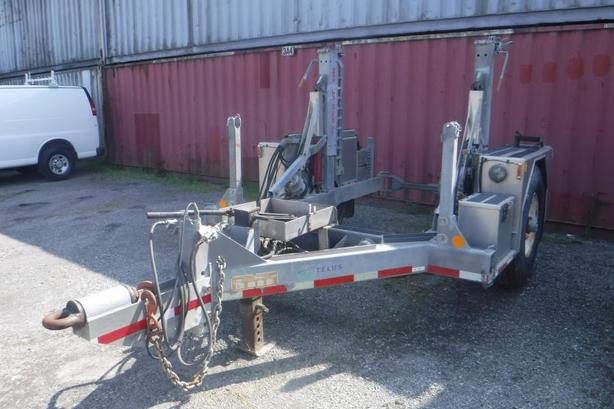 1996 Columbia Remtec CRT-9 Mobile Reel Spool Cable Trailer with Air Brakes and H