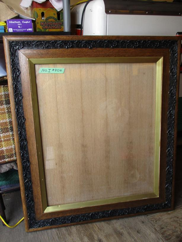 ESTATE OAK ANTIQUE PICTURE FRAMES