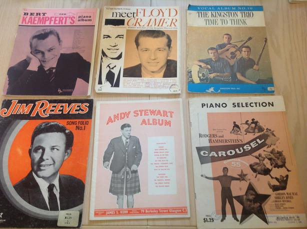 MOSTLY 50's-60's  ERA PIANO MUSIC ALBUMS .  $10 for all 6