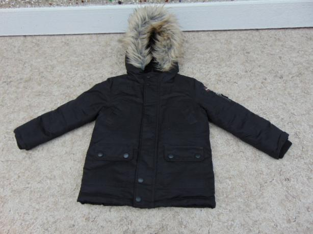Winter Coat Child Size 5 Canadiana With Faux Fur Parka Made For The Snow