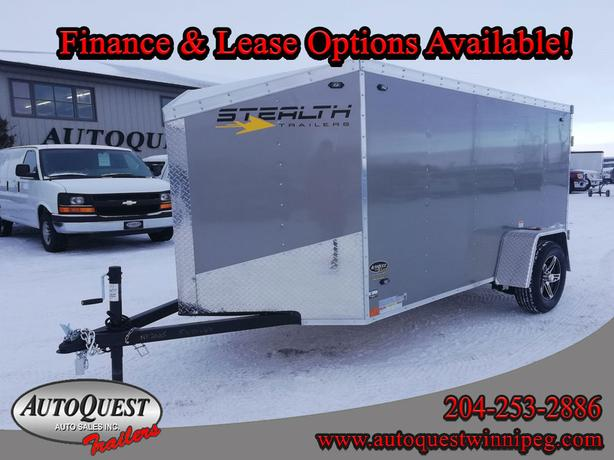 """2020 Stealth 5' x 10' x 60"""" V-Nose Enclosed Cargo Trailer - 2 990 lbs"""