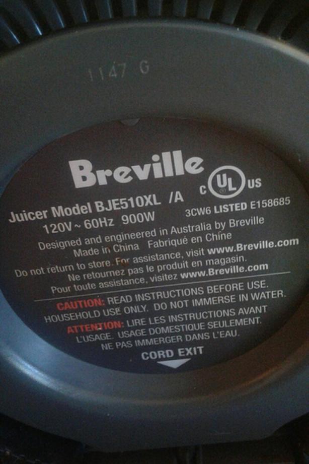 Breville BJE510XL Multi-speed Juicer