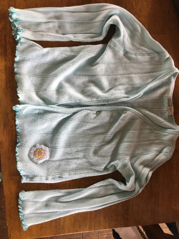turquoise cardigan size 116-122