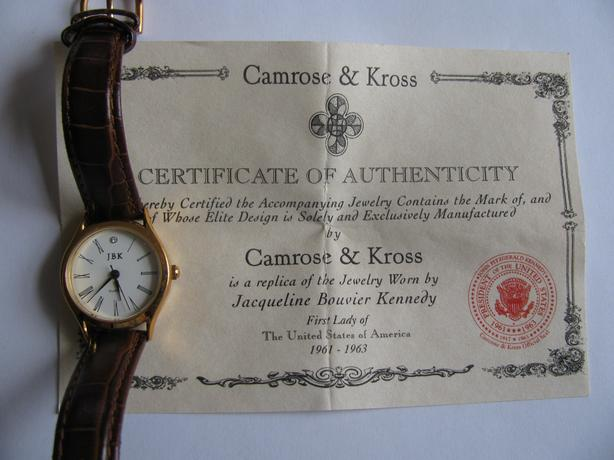 Camrose & Kross JBK Collection Jacqueline Bouvier Kennedy Replica 1st Lady Watch