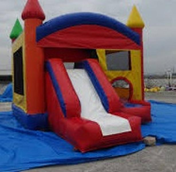 Very cheap inflatable slide bouncy castle